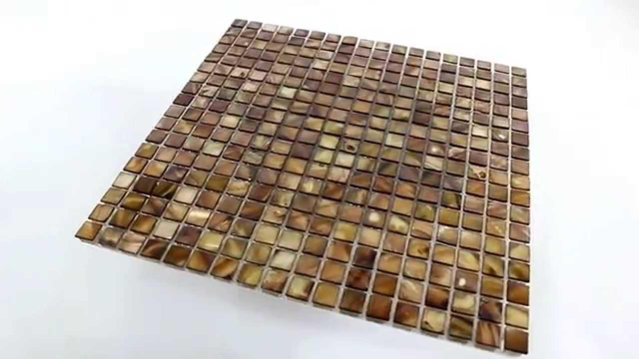 Glas Perlmutt Effekt Mosaik Braun Gold YouTube - Mosaik fliesen braun gold