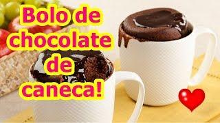Bolo de chocolate de caneca - Fácil e rápido! Fica pronto em menos de 5 minutos 😍 ❤😍 ❤