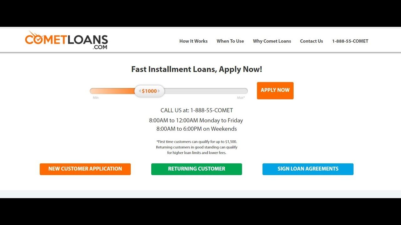Comet Loans - real review! It`s a scam, don`t take payday loans from CometLoans.com! - YouTube