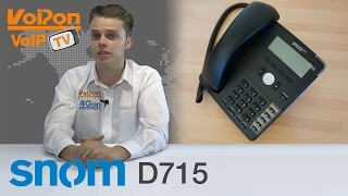 snom D715 IP Phone Video Review / Unboxing
