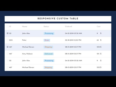 Responsive Custom Table Using HTML CSS and Jquery | HTML Table thumbnail