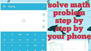 Math problem solver app step by step { in Hindi }