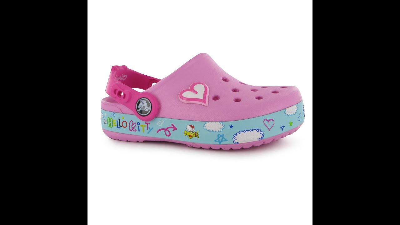 527b2a617 Обзор Кроксы Crocs Hello Kitty Plane Sandals Child Girls - YouTube
