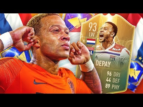 THE CHEAP TOTS NEYMAR?! 93 TOTS FLASHBACK DEPAY PLAYER REVIEW! FIFA 19 Ultimate Team