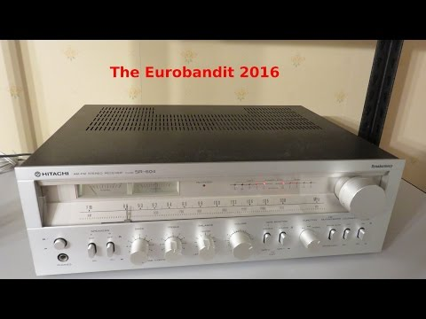 Hitachi SR-604 Stereo Receiver Review & Sound Test (Made Between 1979 - 1980)