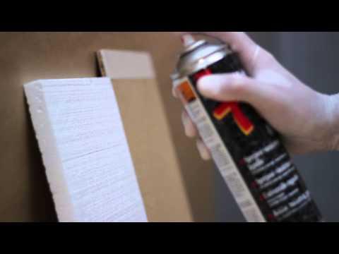Polisztirol ragasztása Scotch-Weld™ Spray 77 spray ragasztóval