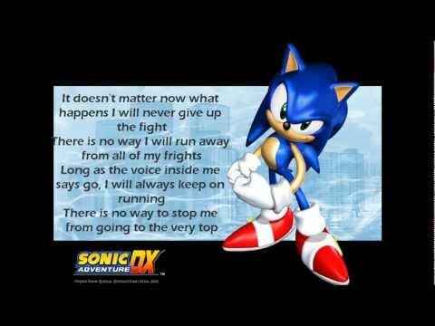 It Doesn't Matter- Sonic Adventure DX- With Lyrics