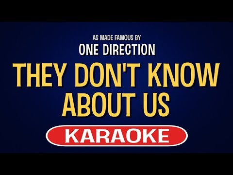 They Don't Know About Us (Karaoke Version) - One Direction   TracksPlanet