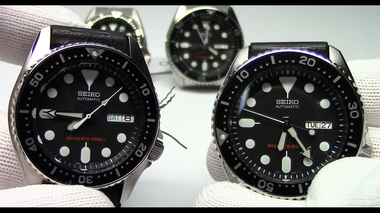 what size dive watch is right for me the seiko skx007 vs skx013
