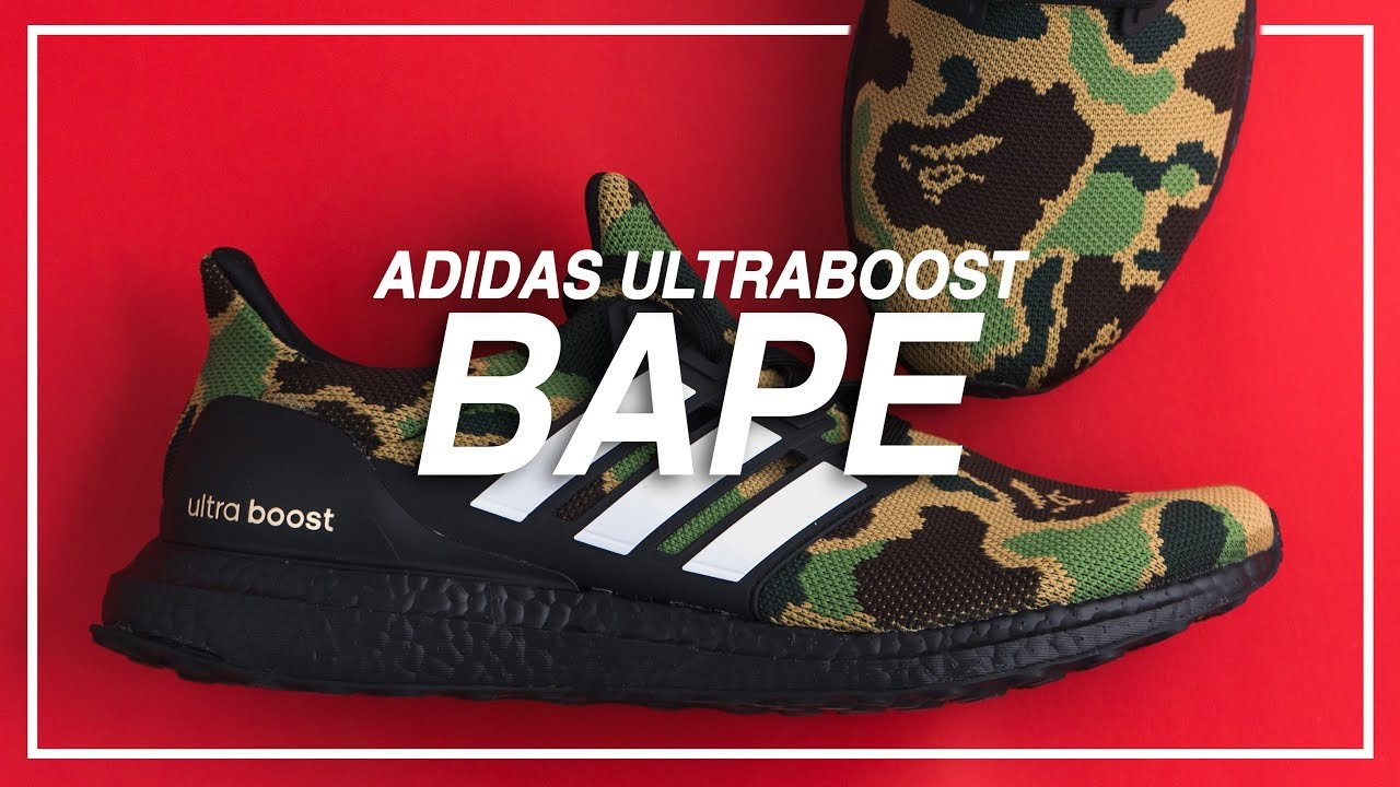 BAPE x Adidas Ultraboost Green Camo Unboxing & Review