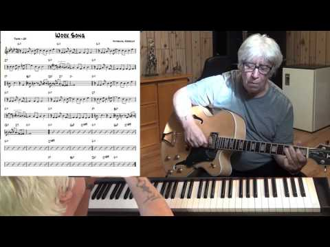 Work Song (2) Jazz guitar & piano cover ( Nat Adderley )