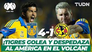 ¡Estalla el Volcán! Tigres golea al América sin piedad | Tigres 4-1 América CL-2016 | TUDN