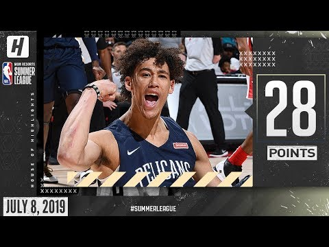 Jaxson Hayes UNREAL NBA Debut! Full Highlights vs Bulls (2019.07.08) Summer League - 28 Points!