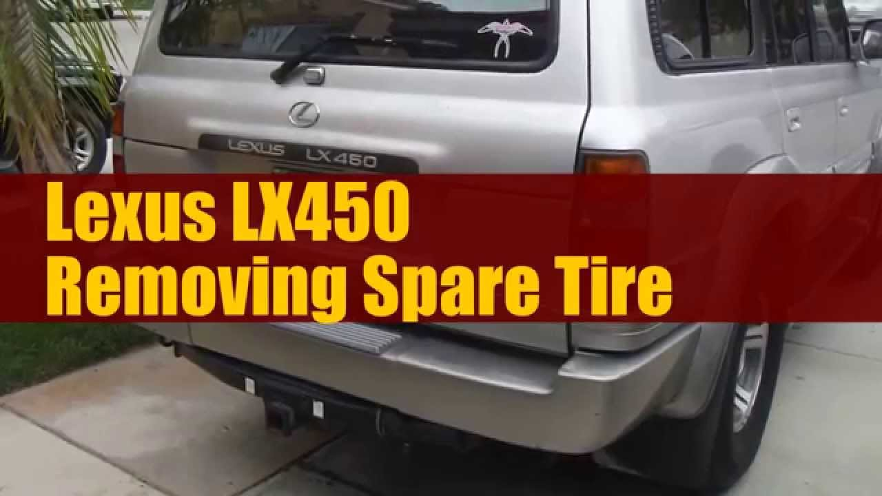 How to remove Spare tire on LX450 or 80 series Land Cruiser FJ80