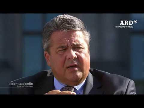 ARD-Sommerinterview mit Sigmar Gabriel, 07.08.2016, Bericht aus Berlin