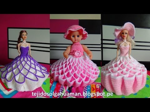 vestido tejido a crochet para muñeca a191cf461f5
