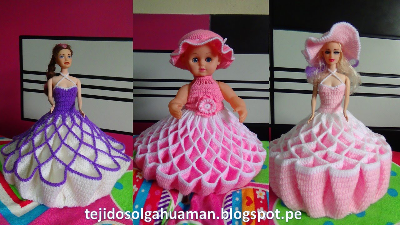 Vestido Tejido A Crochet Para Muñeca Video 1