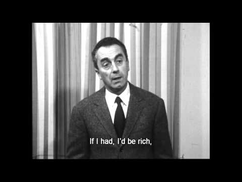Michelangelo Antonioni Interview (I'm certainly not rich)