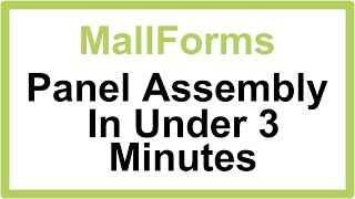 MallForms Temporary Wall Setup In Under 3 Minutes