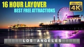 DIY Layover (4K) - 16 Hours in Los Angeles: Hollywood Walk of Fame, Santa Monica & Venice Beach