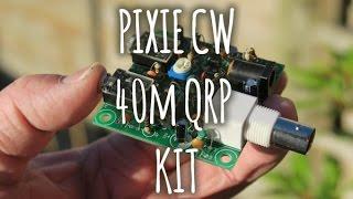 40m qrp pixie kit build for ham radio
