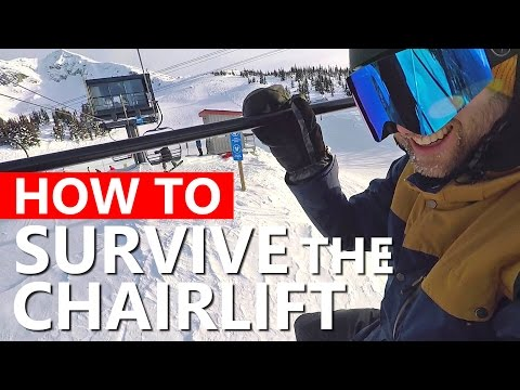 How To Survive the Chairlift - Beginner Snowboarding