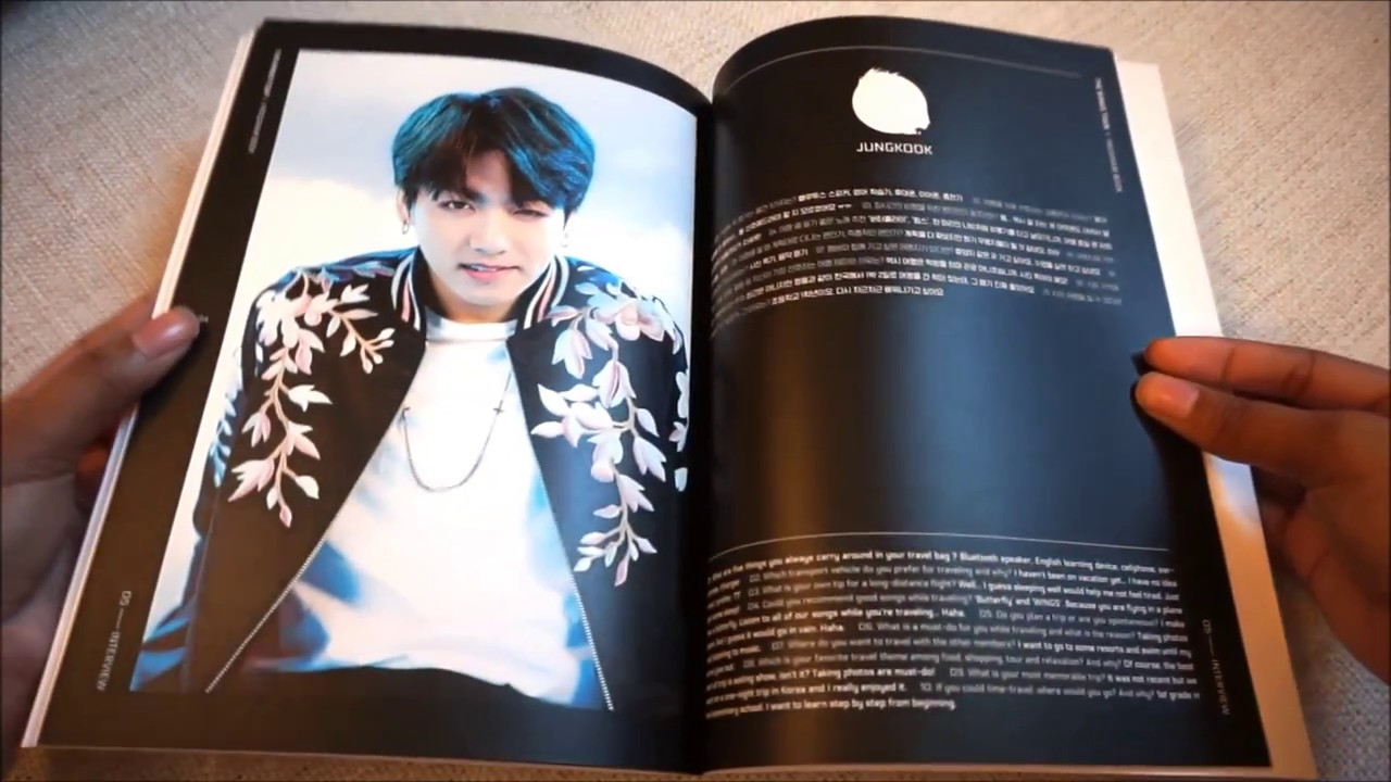 BTS Wings Tour Program Book Unboxing YouTube