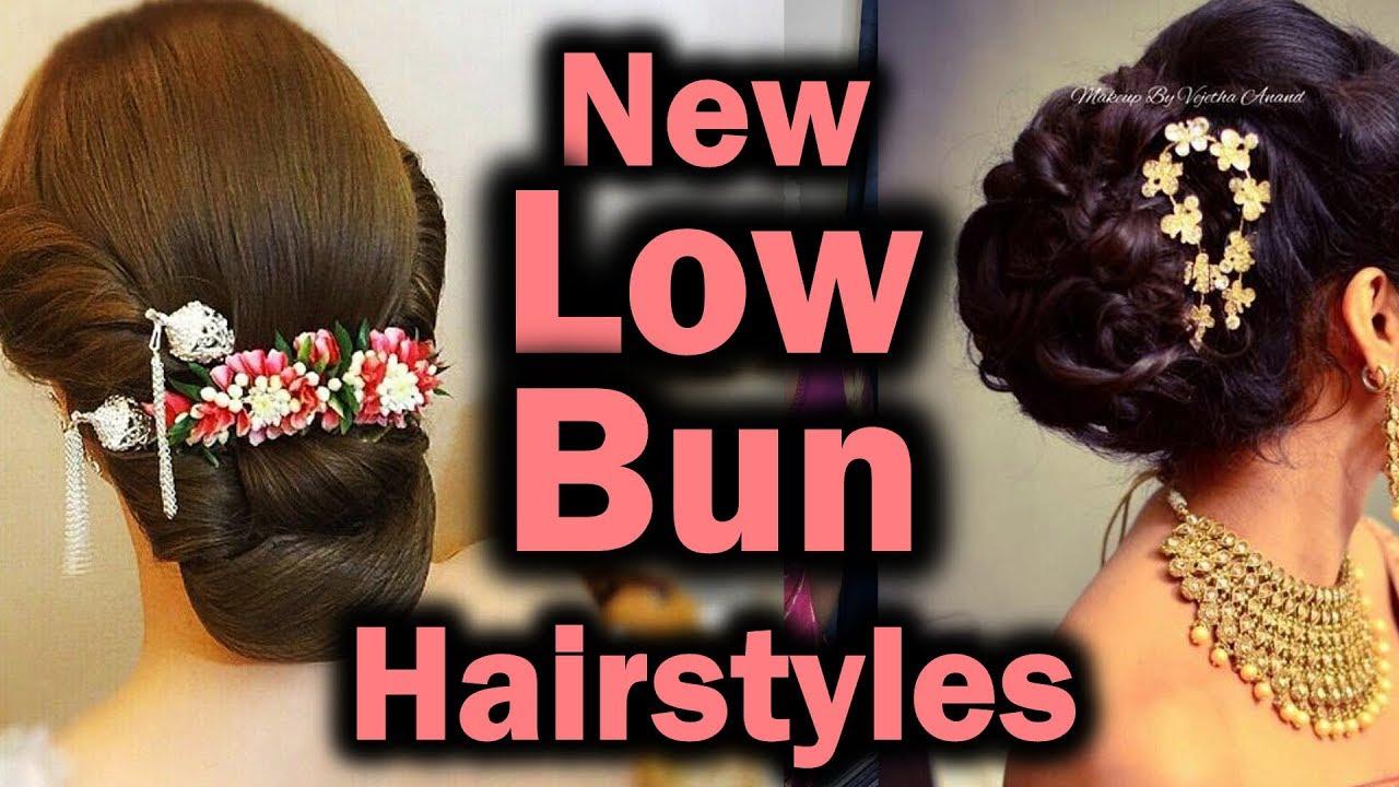 low bun hairstyle | low bun hairstyle designs | indian low bun hairstyle |  bridal low bun hairstyle