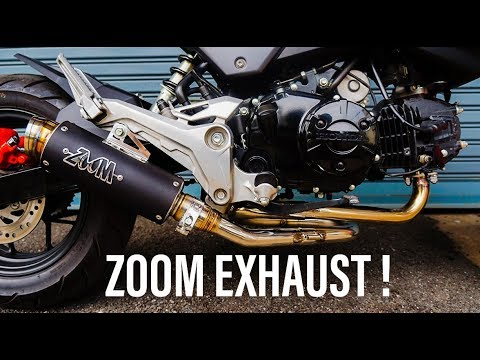 Zoom Exhaust Review & Install | 2018 Grom Build Ep  6