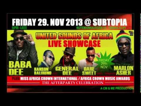 UNITED SOUNDS OF AFRICA. FRI 29TH NOV @ SUBTOPIA