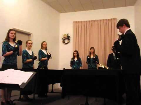"Liberty Christian School Handbell Choir - Sidney, MT - ""How Deep the Father's Love""DSCF1874"