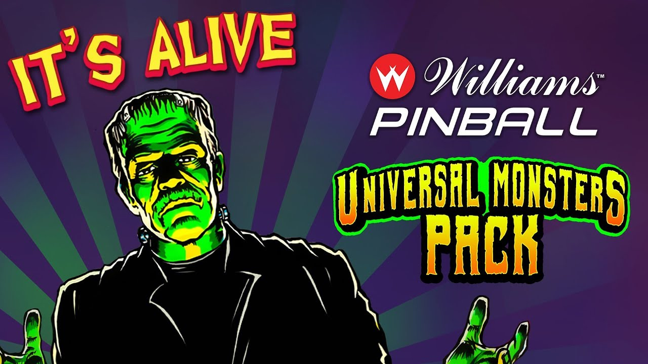 Williams Pinball Universal Monsters Pack Launch Trailer Youtube