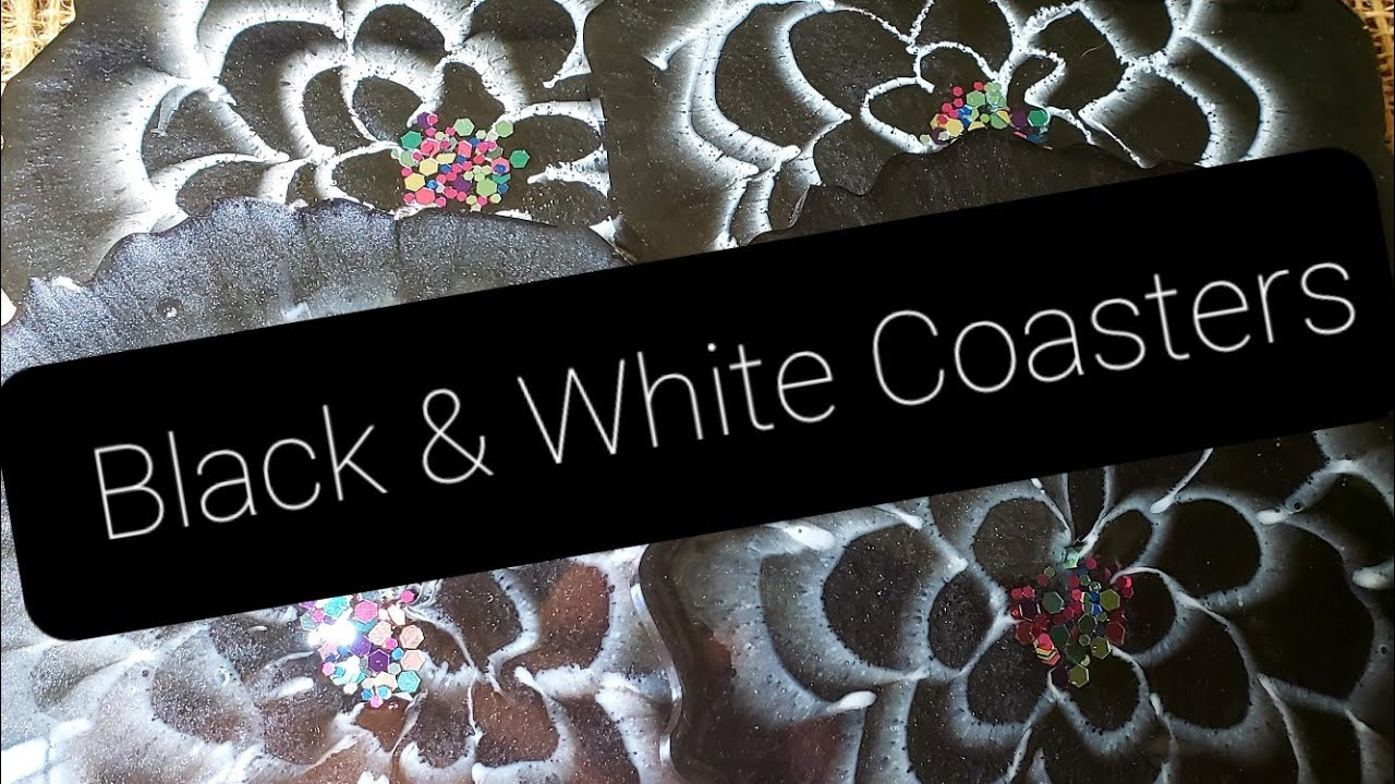 Download Black/ White Resin Flower Coasters! Experimenting with Different Whites! Interesting Results!