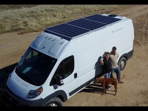 900 Watt Van Conversion Full Walkthrough Full Time