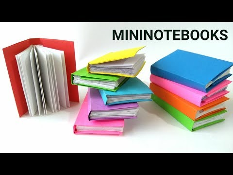 MINI NOTEBOOKS FROM ONE SHEET OF PAPER