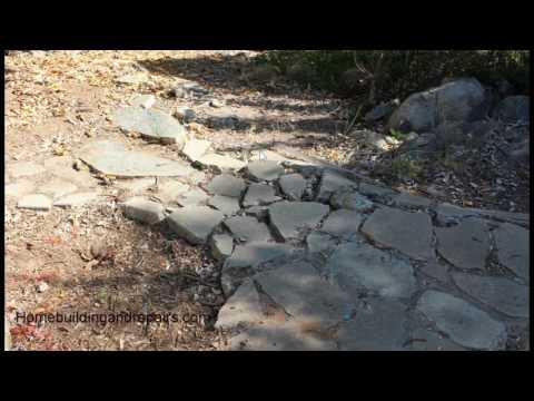 Problems Using Recycled Concrete for Stairs and Walkways