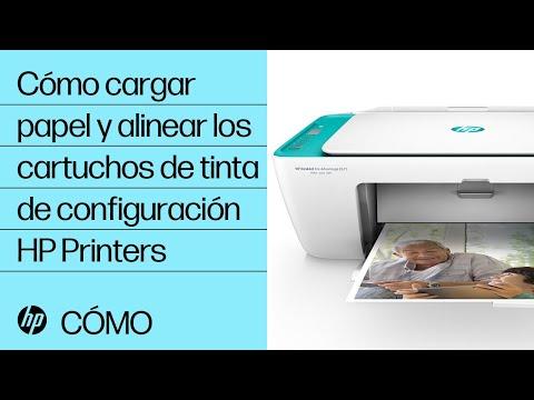 Cómo cargar papel y alinear los cartuchos de tinta de configuración | HP Printers | HP