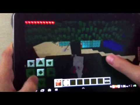 Minecraft PE part 6 ( character lying down on the floor and walking at the same time ) GLITCH!:)