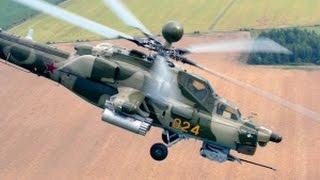 Работа боевых вертолетов Ка-52 ВКС России в Сирии попала в YouTube!(Эти кадры применения боевых вертолетов Ка-52 Военно-Космических Сил России в Сирии впервые за всю историю..., 2016-04-04T08:31:22.000Z)
