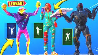 New Leaked Fortnite Dances & Emotes & Skins. [Taco Time, Pizza Party, Rage Quit, Visitor Skin]