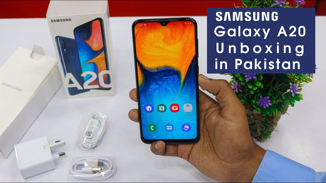Samsung Galaxy A20 Unboxing In Pakistan Price In Pakistan Deep Blue