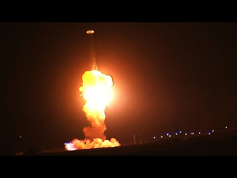 Unarmed Minuteman III INTERCONTINENTAL BALLISTIC MISSILE launches during an OPERATIONAL TEST!