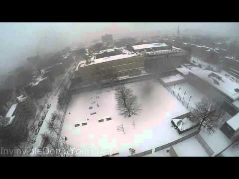 Raw Blizzard video in Williamsburg Brooklyn NYC from a Drone