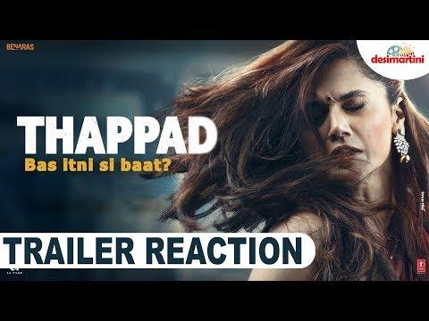 THAPPAD Trailer Reaction  Taapsee Pannu  Anubhav Sinha  Bhushan Kumar