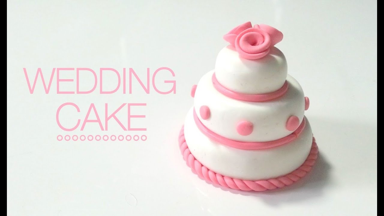 Tuto Fimo Wedding cake / Gateau de mariage - YouTube