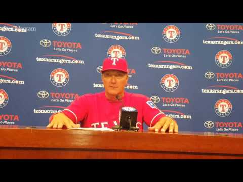Rangers Jeff Banister on Delino DeShields' game-winning single