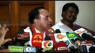Subramanian Swamy's Press Meet in Madurai