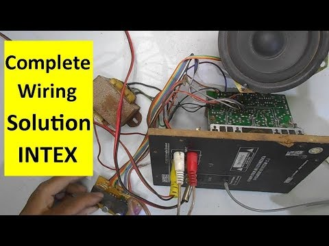 Full Intex Home Theater Wiring Solution And Repairing Guide Model It 2000 Youtube