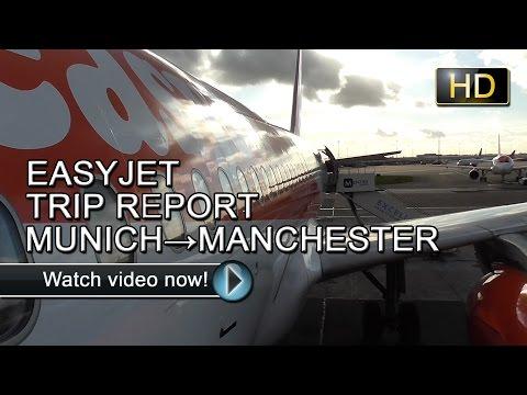 ✈TRIP REPORT | EASYJET | MUNICH TO MANCHESTER | AIRBUS A320-200 | G-EZTT✈