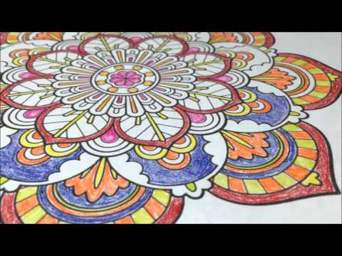 Mandala Vintage - Calming Children's or Adult Coloring Page / Book